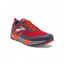 BROOKS - CASCADIA 13 RED ORANGE - MEN